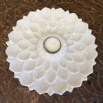 marble lotus candle holder, hand carved